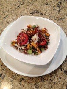 crab quoina salad