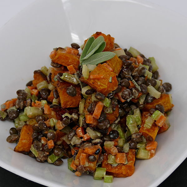 Lentil and Butternut Squash Salad