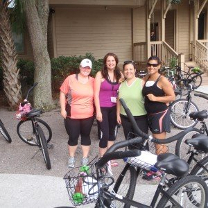 Guests participating in a bike ride adventure around Hilton Head Island at Hilton Head Health Weight Loss Camp and Health Spa