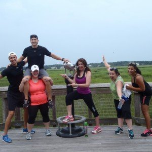 Hilton Head Health weight loss camp and health spa guides and guests pose for a fun picture after their bike ride around Hilton Head Island