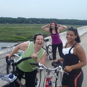 Guests participating in a bike ride adventure around Hilton Head Island