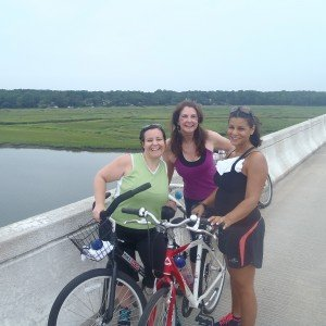 Smiling Guests participating in a bike ride adventure around Hilton Head Island
