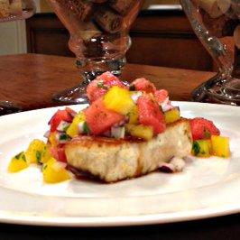 watermelon, salsa, healthy recipe